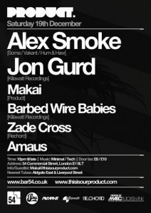 Alex Smoke Jon Gurd Product London Records
