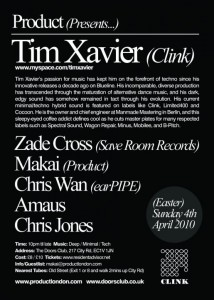Tim Xavier Product London Records