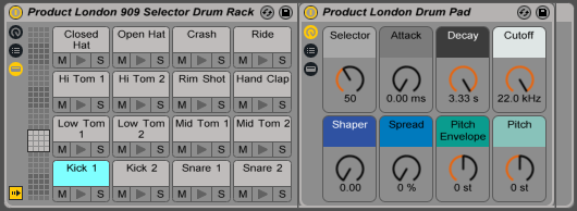 how to add swing to ableton drum rack